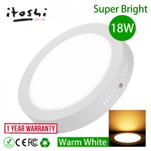 18W LED Surface Mounted Downlight Ceiling Light Balcony Car Porch Warm White