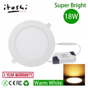 18W Warm White LED Downlight Ceiling Recessed Light