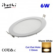 6W LED Lighting Ceiling Down Light Warm White