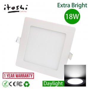 18W LED Recessed Type Downlight Ceiling Lighting Daylight