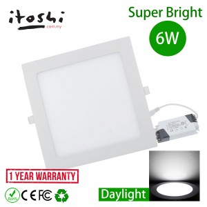 6W LED Recessed Home Downlight Ceiling Lamp Lighting Daylight