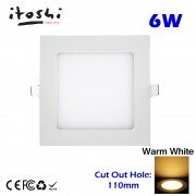 6W LED Recessed Downlight Energy Saving Lighting Ceiling Warm White