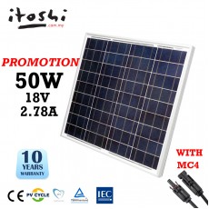 50W Poly Solar Panel Home Shop Factory Farm Off Grid