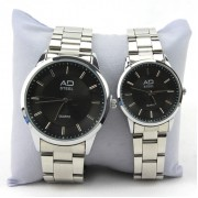 AD Steel Couple Watch Stainless Steel (Black)