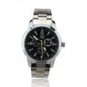 Elegance AD Watch Stainless Steel for Men (Black)