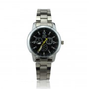 AD Watches Fashion Women Timepiece Casual Stainless Steel Analog Quartz (Black)