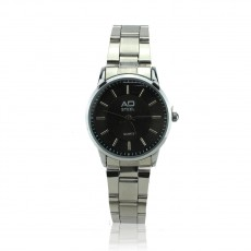 AD STEEL Women Watch Dress Fashion Stainless Steel Analog Quartz Wrist Watch (Black)