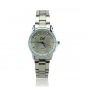 AD STEEL Women Watches Stainless Steel Quartz Wrist Watches Ladies Girls  Female Clock (Silver)
