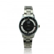 AD STEEL Watches Lady Casual Stainless Steel Band (Black)