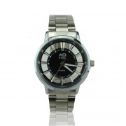 AD STEEL Luxury Design Fashion Stainless Steel Band Wrist Watch for Men (Black)