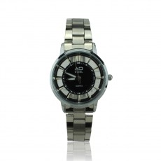AD STEEL Lady Analog Quartz Casual Stainless Steel Watch (Black)