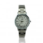 AD STEEL Women Fashion Wrist Watch Stainless Steel High Quality (White)