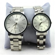 AD STEEL Couple Watch Casual Fashion Watch Gift Timepiece (Silver)