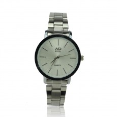 Elegant Ladies Stainless Less Fashion Watch Quartz Analog (Silver)