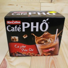 Maccoffee Cafe Pho Instant Milked Coffee Hot Cold Beverage Vietnamese Cofffee (10 packets x 22g)