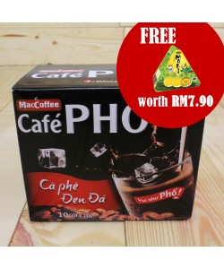 Vietnamese Instant Black Coffee Box Hot or Cold Beverage (10 packets x 16g)