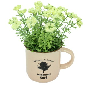 Mini Mug Colourful Artificial Flower Present Decoration Gift
