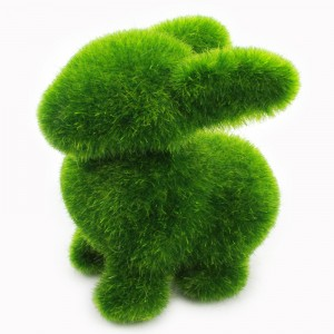 Cute Grass Land Topiary Dog