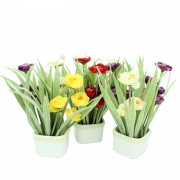 Artificial Water Lilies for Home and Office Decor (Assorted Colour)