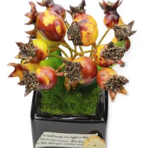 Artificial Flower Arrangement Mini Decorative Pot