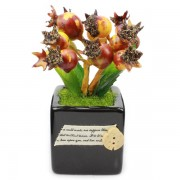 Artificial Flower Arrangement Mini Decorative Pot