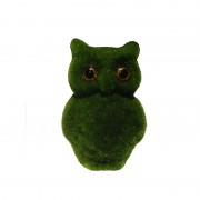 Animal Bird Design Decor Owl Artificial Turf Grass Hedge Topiary