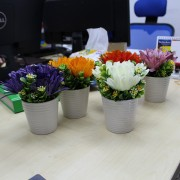 Artificial Tri-flower Indoor Decorative and Gift