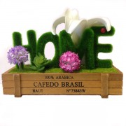 Bonsai Decorative Love Artificial Wooden Vase