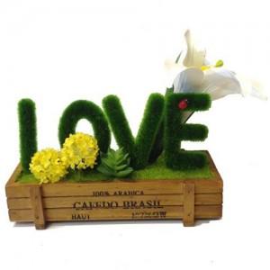 Bonsai Decorative Love Artificial Wooden Vase