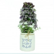 Artificial Flower Pot Vase Gift Decor Home Office Decoration
