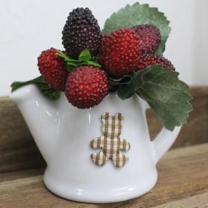 Small size Artificial Cherry Berry in Ceramic Pot