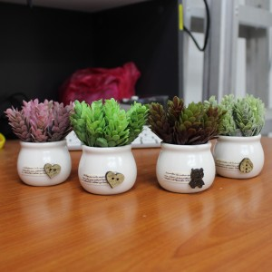 Decorations Gifts For Home Office - European Highlands In Ceramic Pot