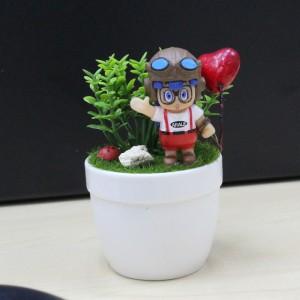 Cartoon Gift Decor Indoor Office Shop Cafe Artificial Plant Ceramic Pot