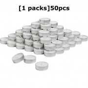 Tealight Candles White Parafin Wax Long Burning Hour 1 Pack 50pcs