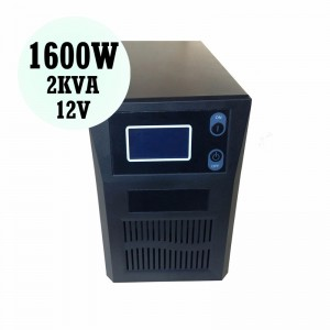 Solar Inverter Pure Sine Wave 1600W 12V PSC-V Solar Energy Equipment for Home Plantation Farm Factory Shop