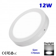 LED Surface Mounted 12W Downlight Concrete Cement Ceiling Light Outdoor Garden Balcony Daylight