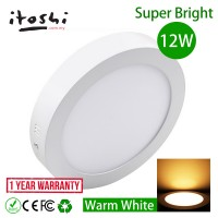 6 Inch 12W LED Surface Mounted Downlight Concrete Cement Ceiling Light Decorative Outdoor Garden Balcony Warm White