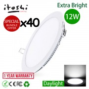 40pcs LED Ceiling Light 12W 6 Inch Round Daylight