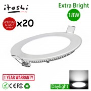 20pcs 8 Inch 18W LED Ceiling Light Recessed Type Round Daylight