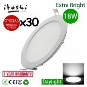 "30pcs 8"" 18W LED Ceiling Light Recessed Type Round Daylight"