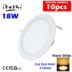 10pcs 18W Led Panel Downlight Round Warm White without LED Driver cut out size 210mm