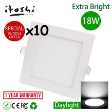 10pcs 8 Inch 18W Led Panel Downlight Square Daylight
