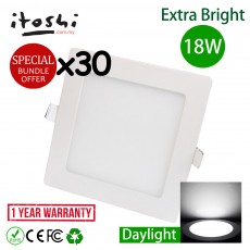 30pcs 8 Inch 18W LED Ceiling Light Living Hall Kitchen Square Daylight