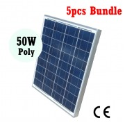 [5pcs Bundle] 50W Poly Solar Panel DIY Solar Power System