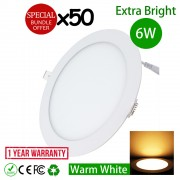 6 Watt 4 Inch LED Downlight Energy Saving Lighting Round Warm White 50pcs Package