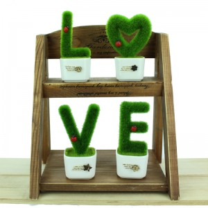 Alphabet Letter Decor A-Z Home Decor Artificial Plant