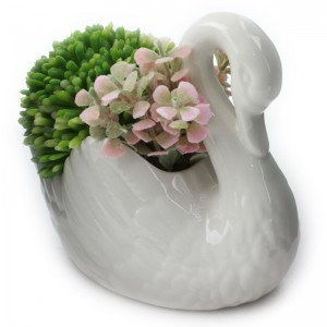 Event Door Gift Colourful Artificial Flower Pot Decorative