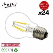 24pcs 6W LED Filament Bulb A60 E27 Daylight