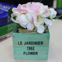 Special English Stylish Design Decoration Artificial Flower Floral in Wooden Case Box
