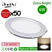 6W 4 Inch LED Downlight Natural White 4500K 50pcs Bundle Promo